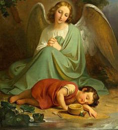 angelo con bambino, dipinto