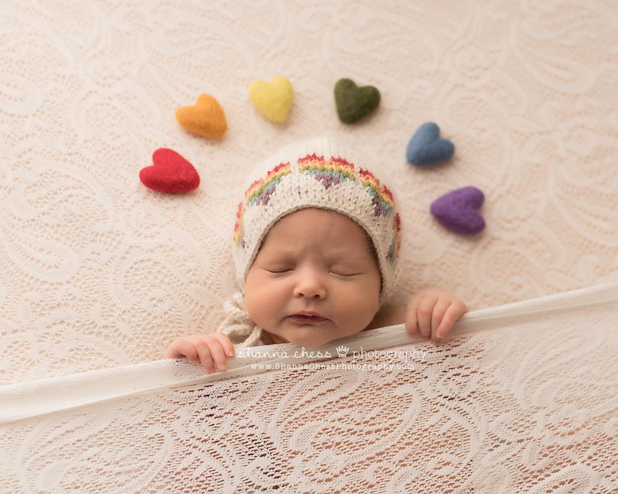 eugene oregon rainbow baby photographer