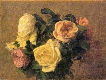 Rosas - Henri Fantin-Latour - Suas melhores pinturas ~ francês