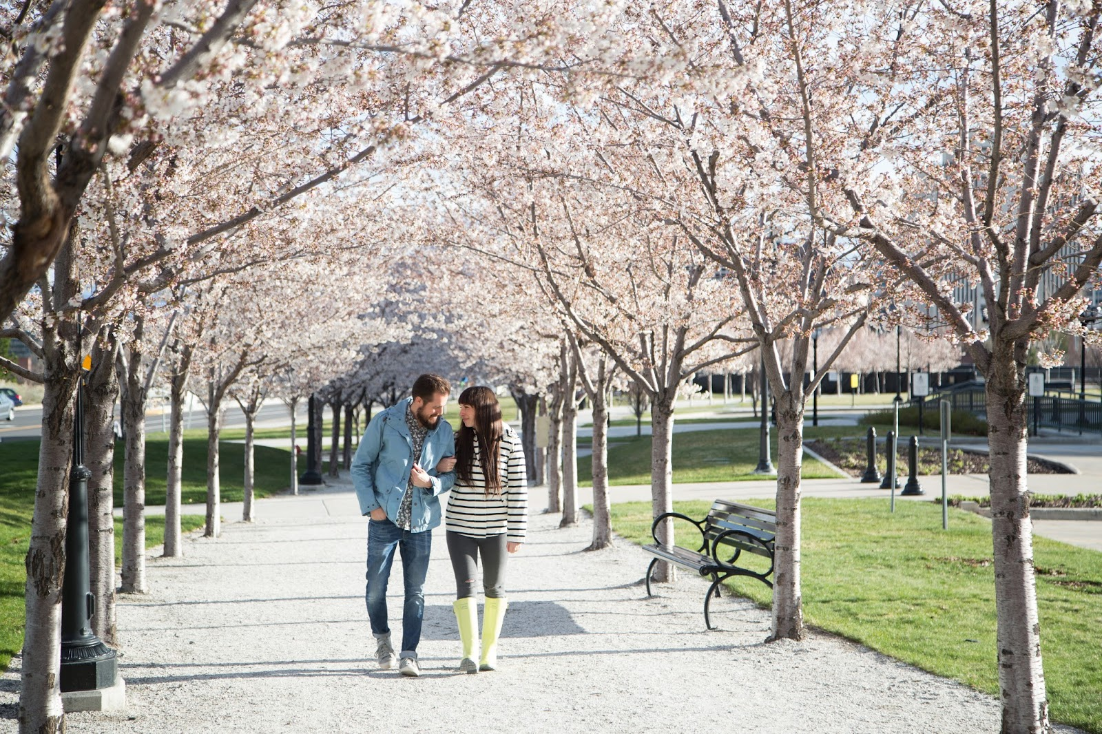 Couples Spring Style at the Utah State Capitol Blossoms