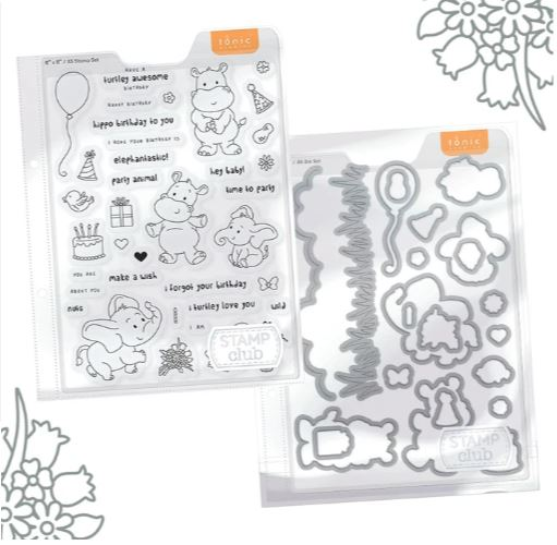 Tonic Studios Stamp Club Party Animals Bundle