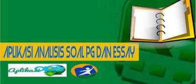 Unduh Aplikasi Analisis Soal PG dan Essay