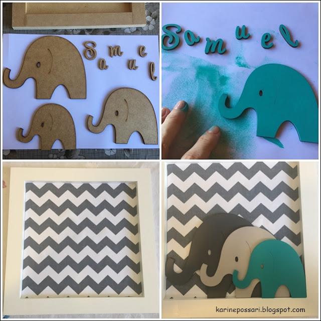 quadrinho de elefantinhos