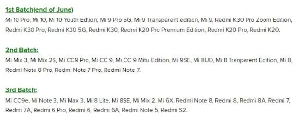 Daftar dan Jadwal Rilis MIUI 12 Stabil