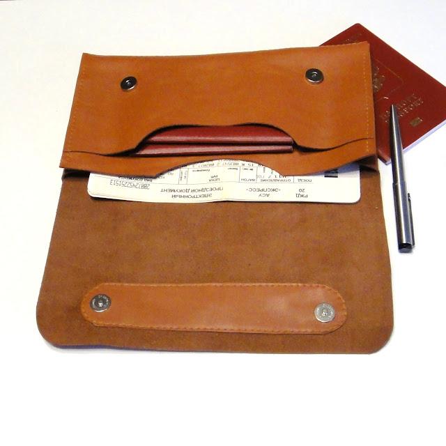 Кожаный конверт для документов - ручная работа, подарок коллеге, мужчине или женщине на любой случай