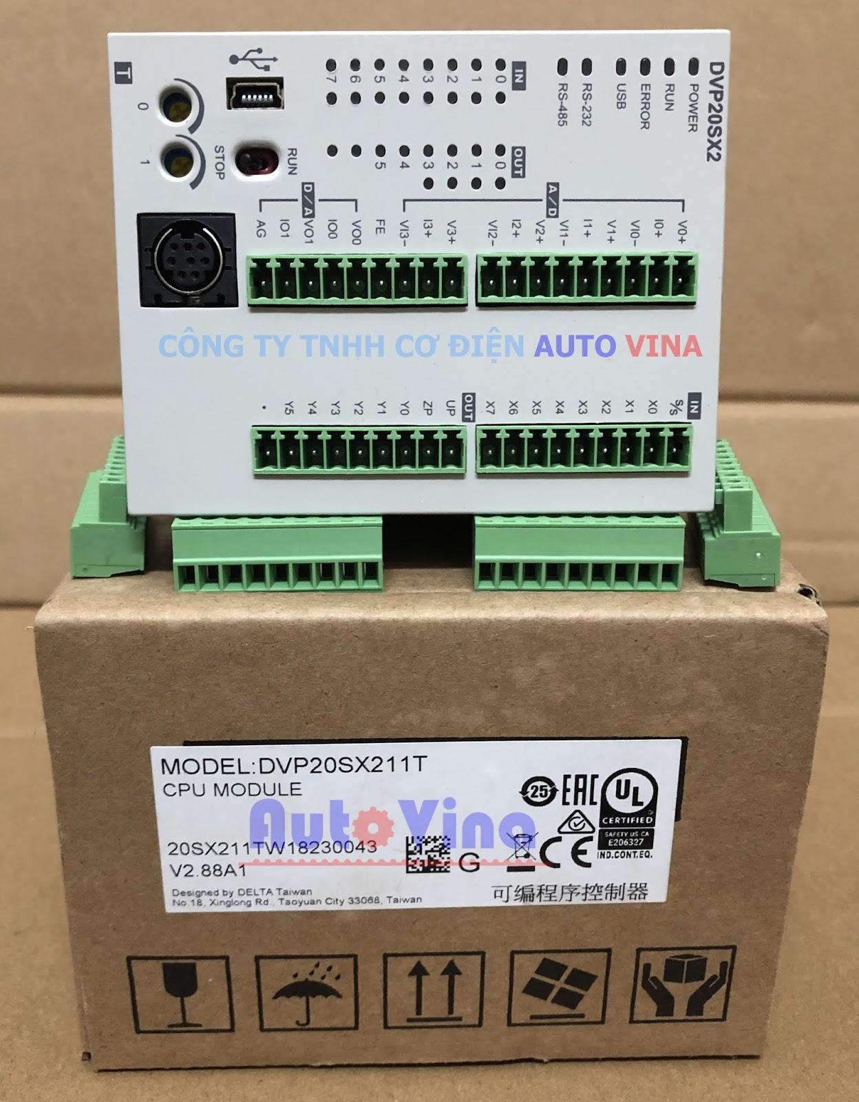 Đại lý bán PLC Delta DVP20SX211T tích hợp ngõ vào ra analog, hỗ trợ thời gian thực, hỗ trợ lệnh điều khiển phát xung cho Servo, hàng có sẵn