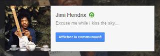 Google+ Jimi Hendrix the Best Community