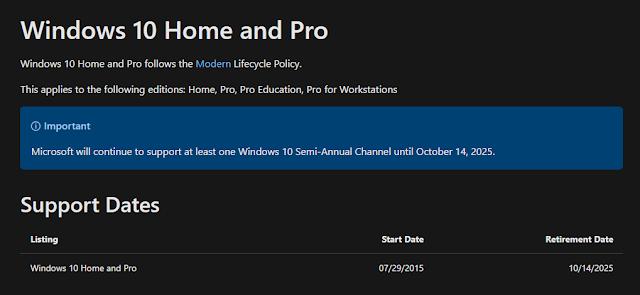 Dukungan Untuk Windows 10 Hanya Sampai Tahun 2025