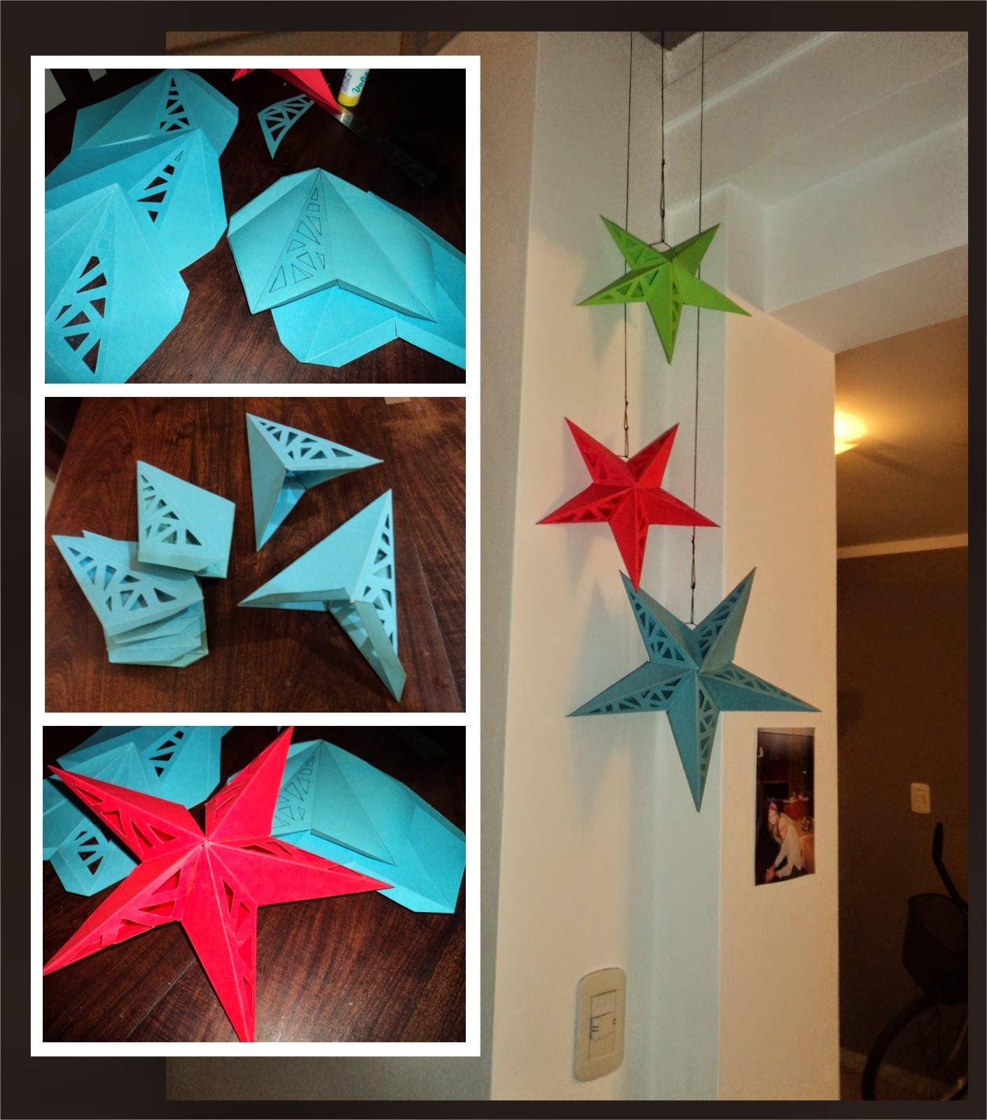 Tutorial de artesan as moldes l mpara estrella de papel - Estrellas de papel ...