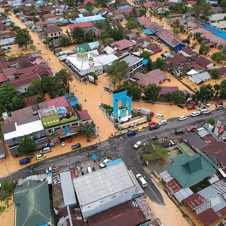 Beginilah Penampakan Banjir di Kalimantan Selatan
