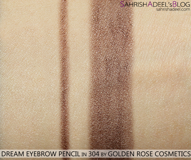 Dream Eyebrow Pencil by Golden Rose Cosmetics - Review & Swatch