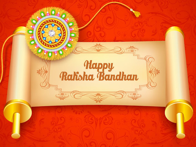 Happy Raksha Bandhan Red Image