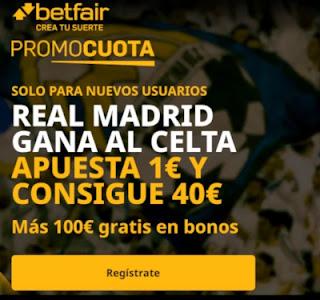 betfair promocuota Real Madrid gana Celta 2 enero 2020