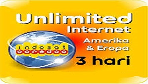 Paket Internet Unlimited Indosat Zona Amerika dan Eropa