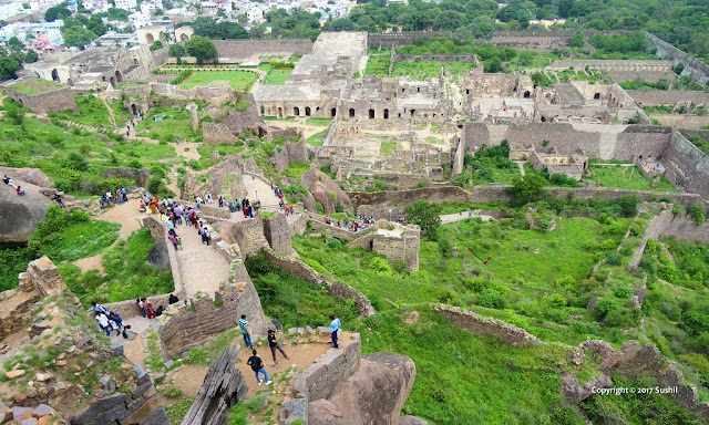 Landscape View from Top, Golkonda Fort, Hyderabad