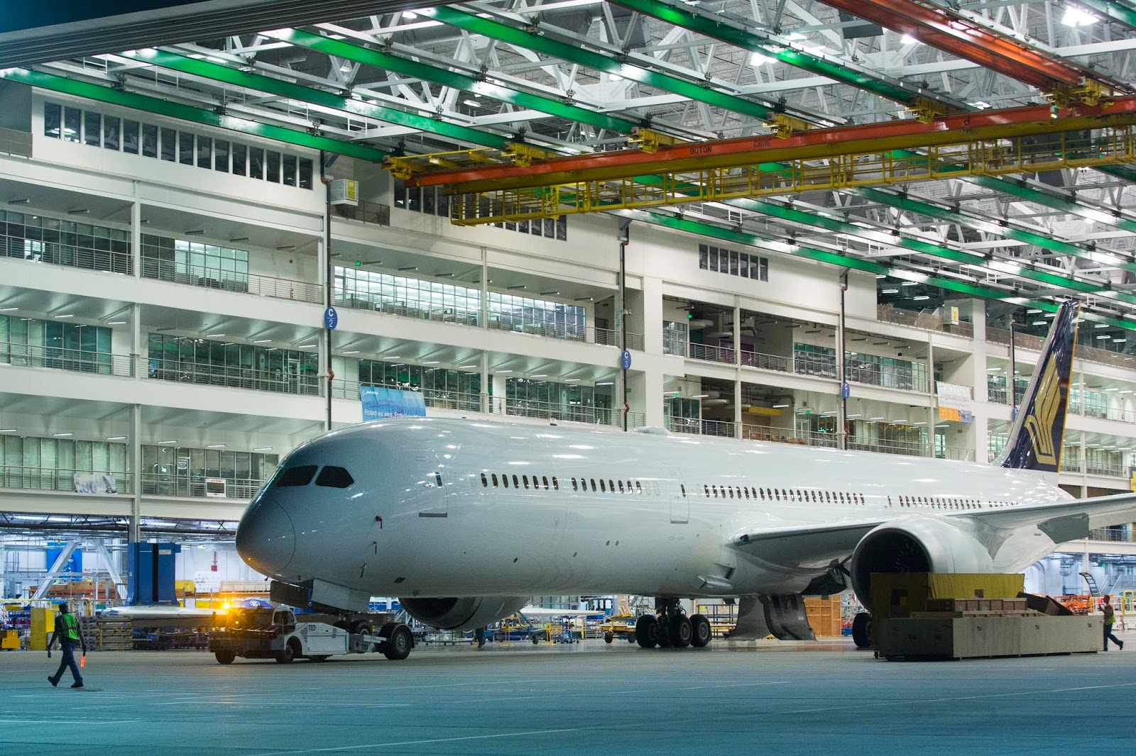 All things 787 boeing rolls out first production 787 10 for zc003 rolling out of the charleston final assembly line boeing image publicscrutiny Images