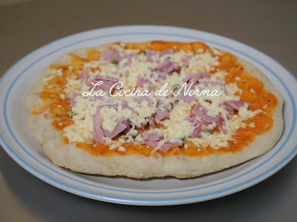 PIZZA EN SARTÉN  ¡¡RICA Y BIEN CRUJIENTE!!