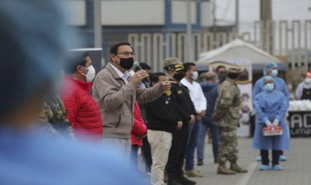Presidente Vizcarra: indicadores de covid-19 disminuyen semana a semana