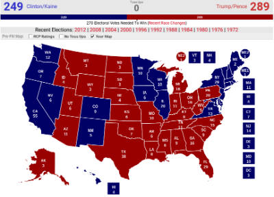 Election My Prediction Vs Actual Results KNPPSTER - 2016 us presidential election precint map