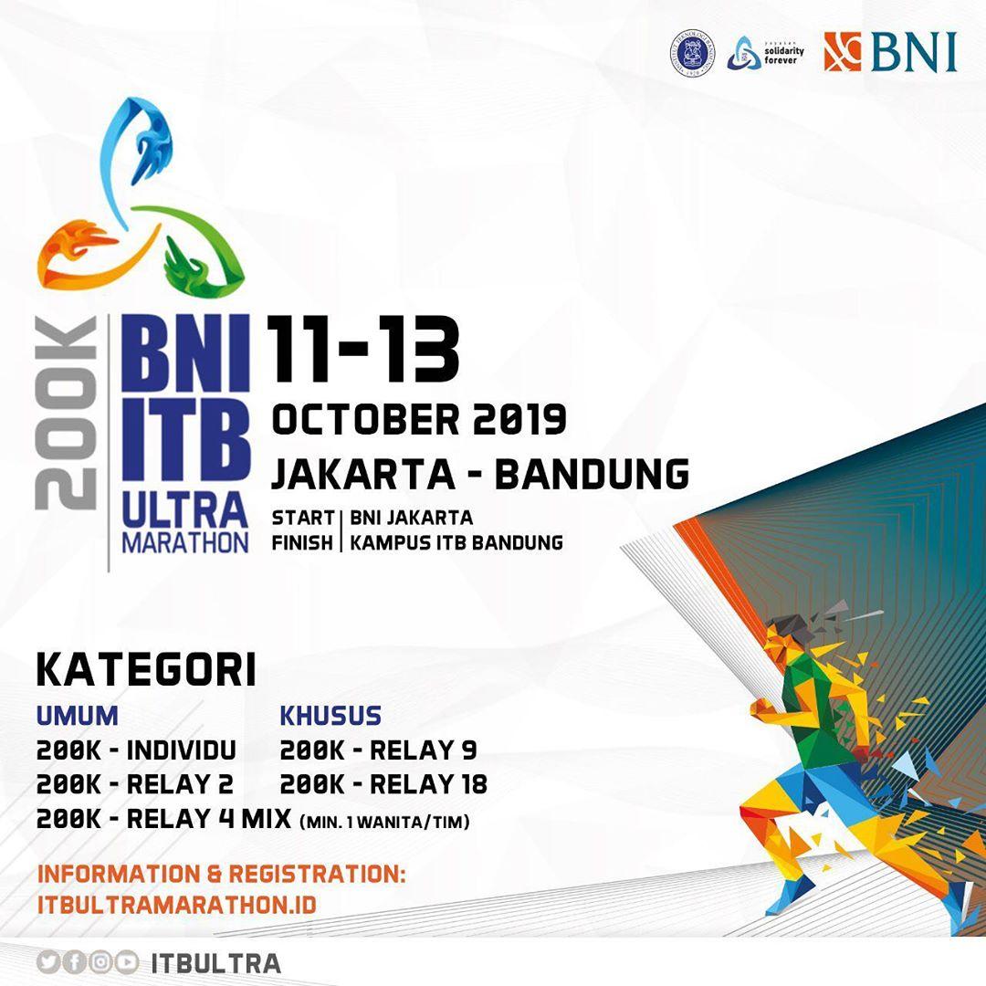 BNI - ITB Ultra Marathon 200K • 2019