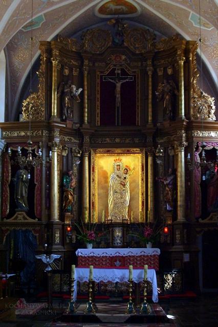 Stoczek Klasztorny, sanktuarium, ołtarz głowny