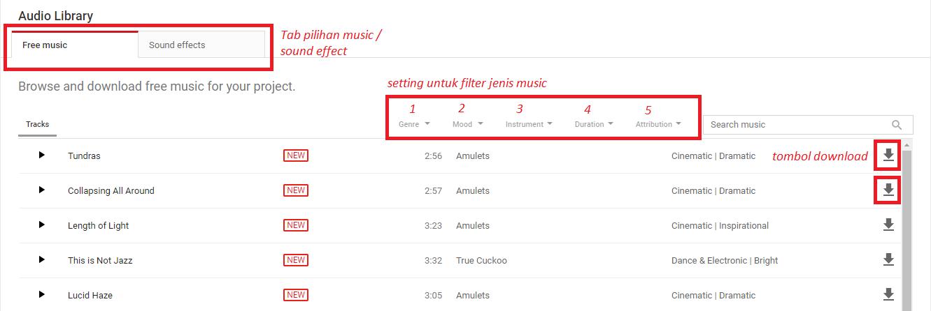 Cara Mendapatkan Lagu dan Backsound Free Licence Dari ...
