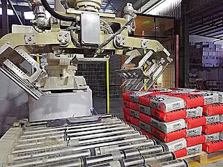 yapı kimyasalları torba paletleme robotu