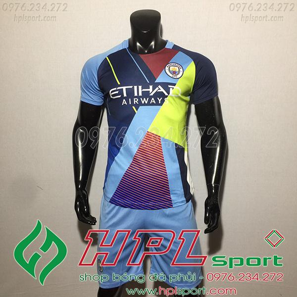 Áo câu lạc bộ Man City màu xanh tím 2020