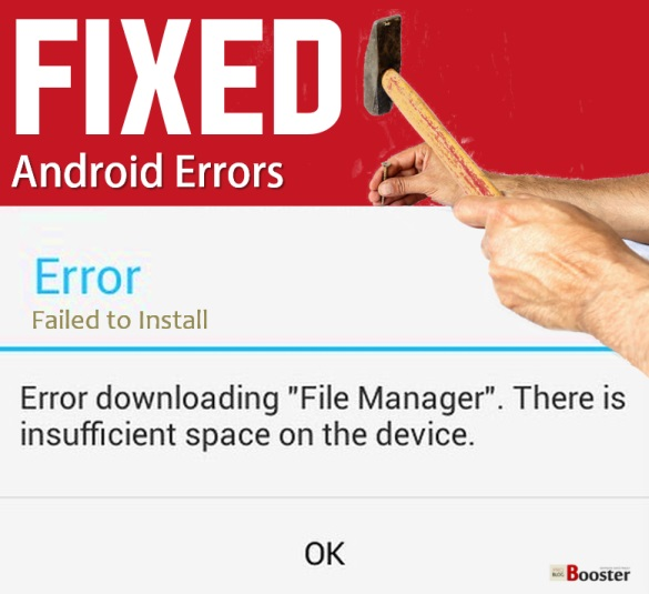 Fix Error Downloading Insufficient Space on the Device