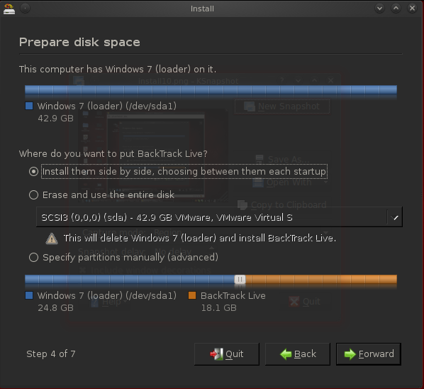 How To Install Backtrack 5 Dual Boot-Tutorial - The World of IT
