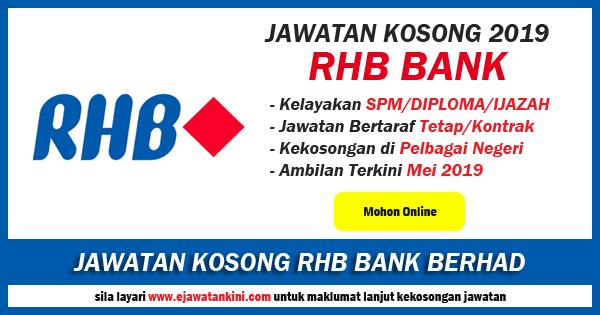 jawatan kosong 2019 rhb bank berhad