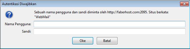 akses webmail melalui cpanel - Faberhost.com
