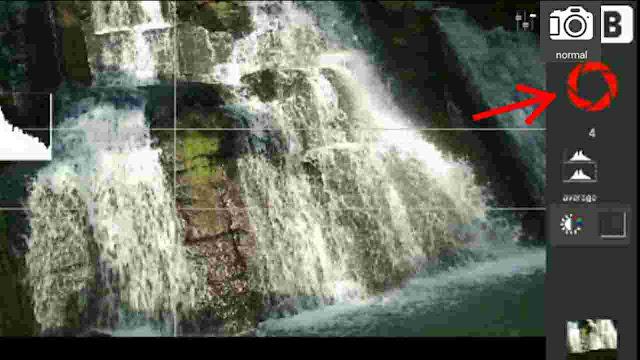 cara memotret air terjun slow speed agar terlihat halus seperti kapas dengan menggunakan Hp