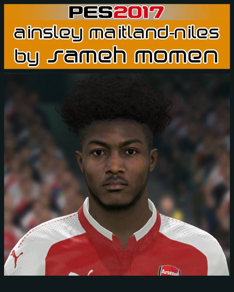 Pes 2017 L Moura Face By Sameh Momen: Ultigamerz: PES 2017 Ainsley Cory Maitland-Niles (Arsenal