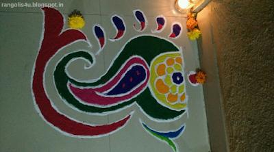 Colorful Small Rangolis