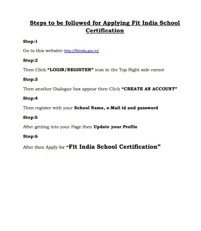 """ Fit India School"" – Certificate – How To Apply - Step By Step Procedure"