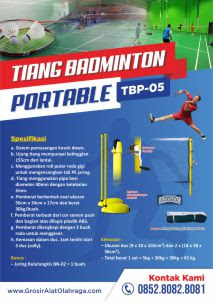 brosur tiang badminton portable tbp-05