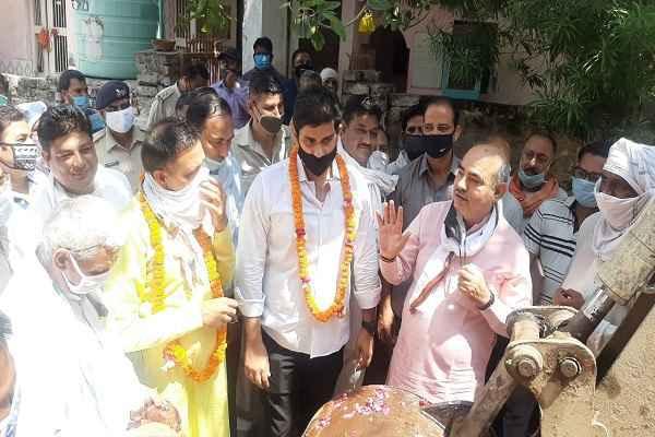 minister-moolchand-sharma-ballabhgarh-development-26-july-2020