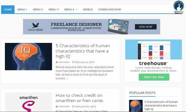 Seofast Responsive Blogger Templates Download (Premium 2020)