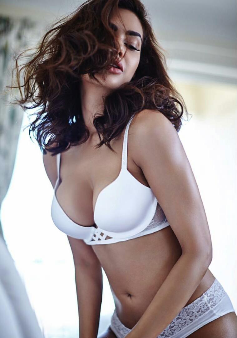 Esha Gupta hot white bikini photoshoot hd Photos
