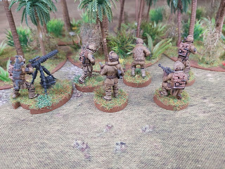 Rebel Troopers and support weapons