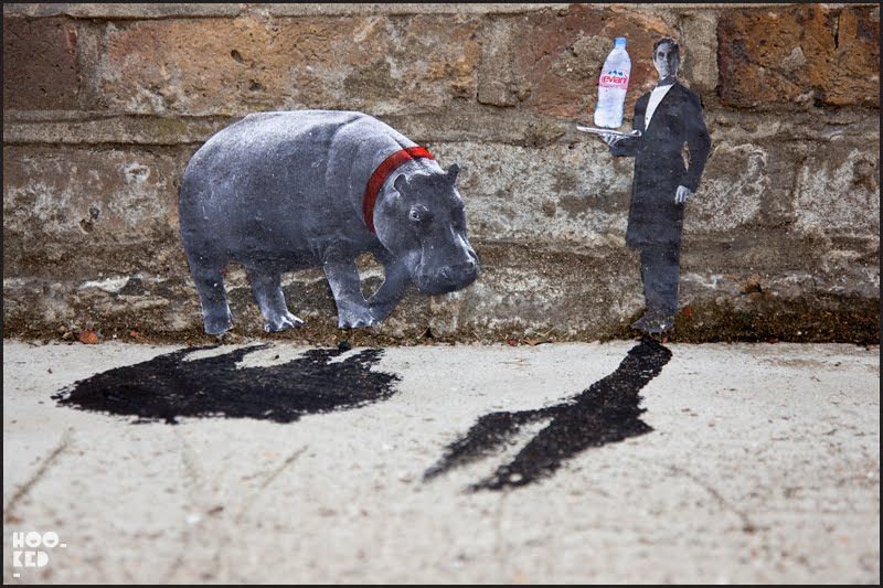 Pablo Delgado miniature Shoreditch Street Art in London