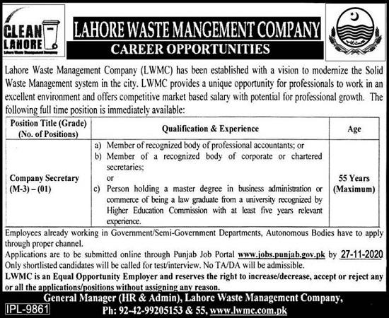 lwmc-jobs-2020-for-company-secretary-latest