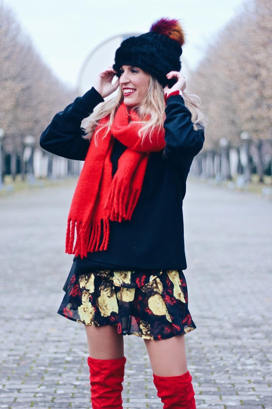 maxi bufanda roja