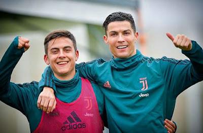#Cristiano #Ronaldo with #Paul #dybala 😮❤ #cr7...