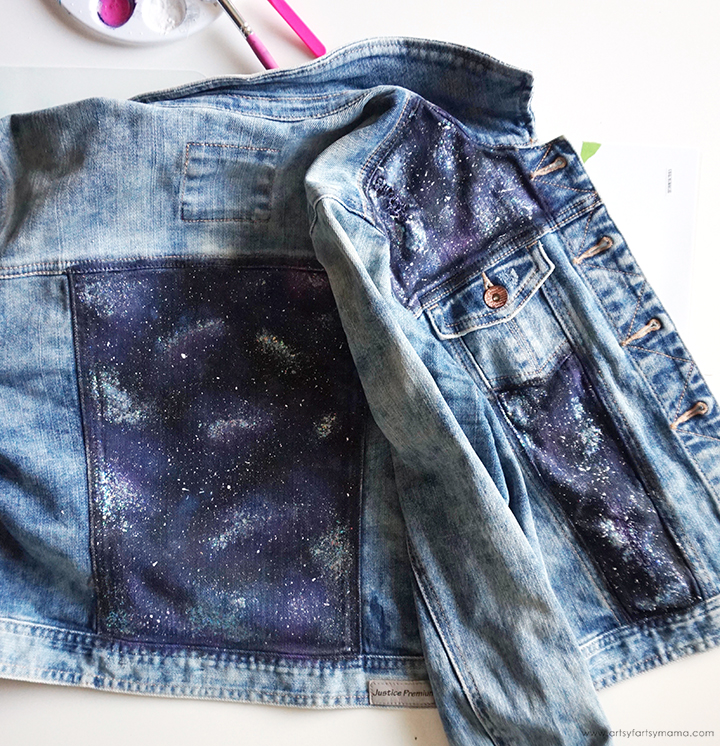 DIY Galaxy Jacket Painting Front