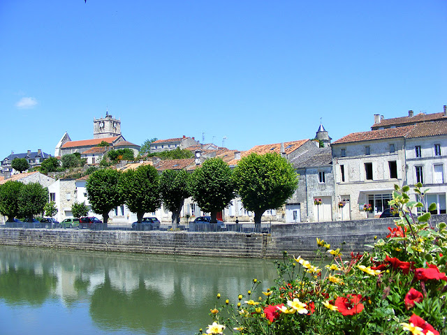 Saint Savinien. Charente-Maritime. France. Photographed by Susan Walter. Tour the Loire Valley with a classic car and a private guide.