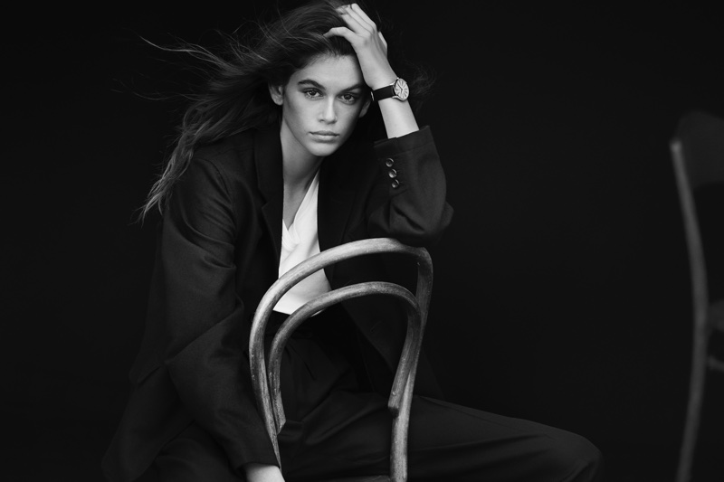 Kaia Gerber for OMEGA watch campaign