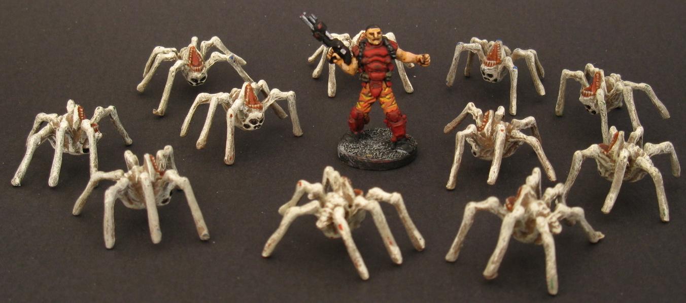 wargaming with barks doom boardgame figures