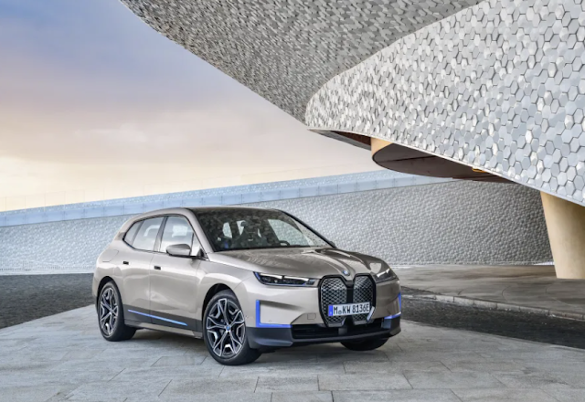 BMW unveils iNEXT electric powered SUV, becomes 'BMW iX' with over three hundred miles of range